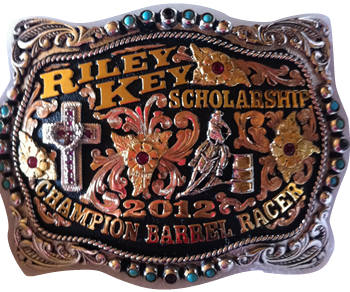 2012 Riley Key Scholarship Barrel Race Buckle